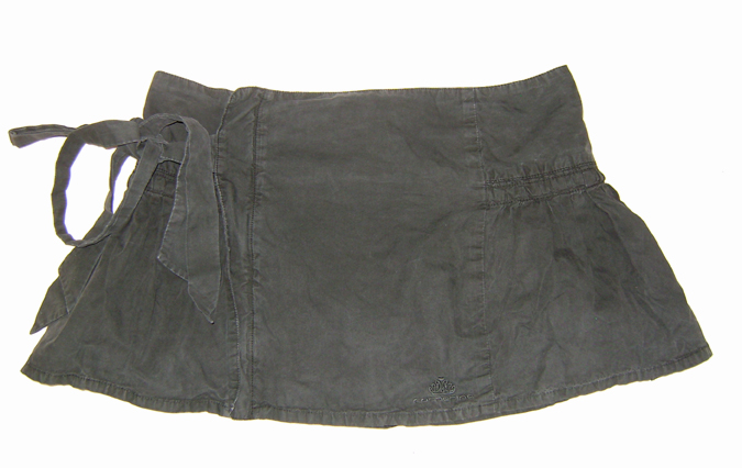 fornarina wrap skirt dark grey