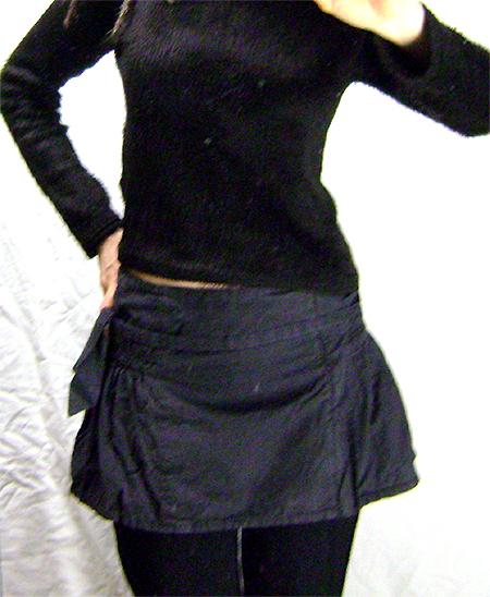 fornarina wrap skirt grey