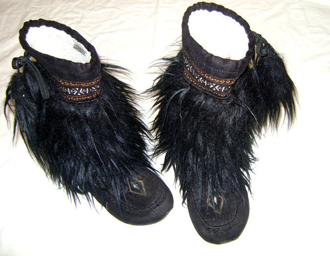 black fur booties 2