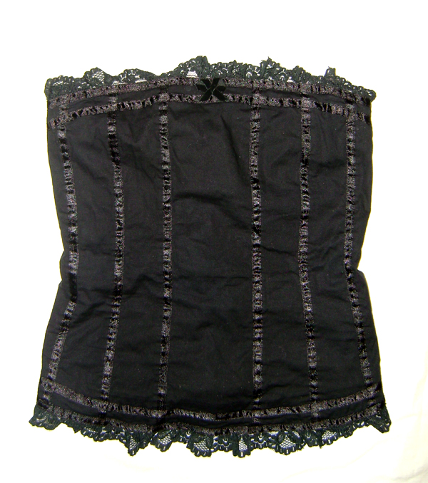black goth bodice top