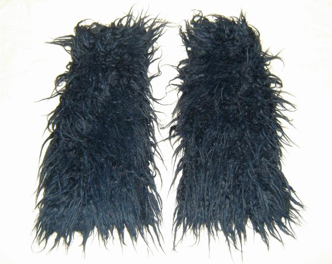 blueblack fluffy legwarmers