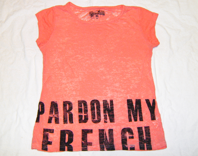 bright peach burn out top