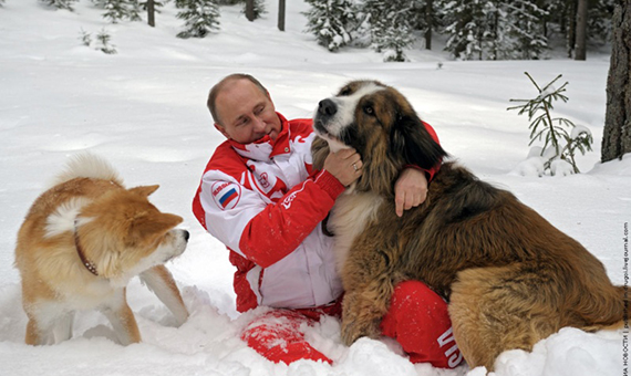 Putin-with-dogs