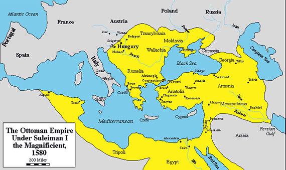 Osmansko carstvo 1580 godine