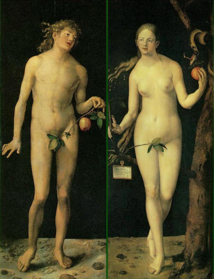 Дюрер. Адам и Ева, 1507, Прадо, Мадрид