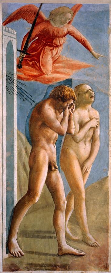 Мазаччо. Изгнание из рая.1427