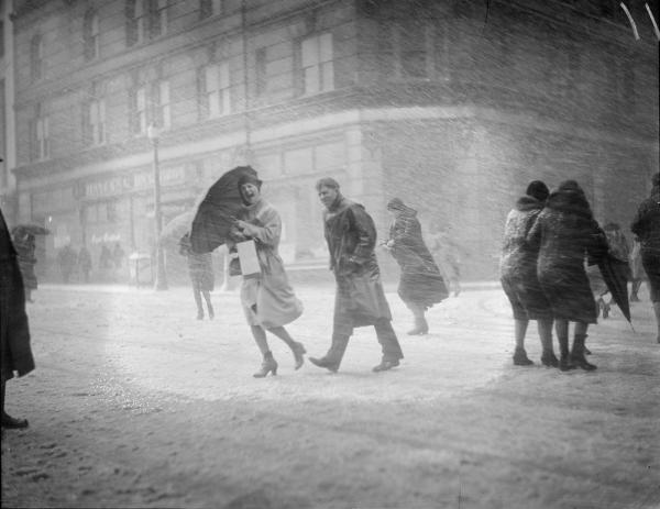 Snowstorm in Boston, 1930