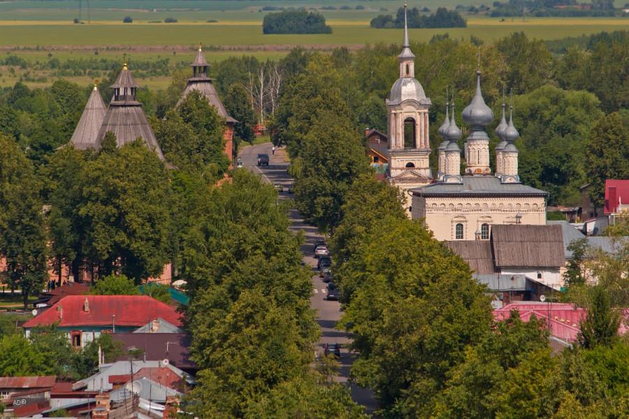 Суздаль - Виды на Суздаль с колокольни Ризоположенского монастыря