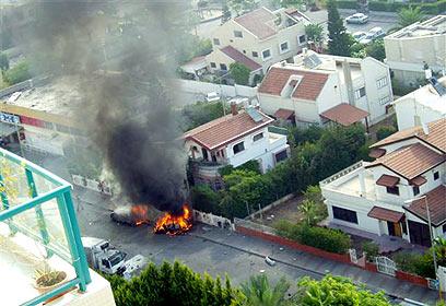 Падение ракеты в Крайот, август 2006