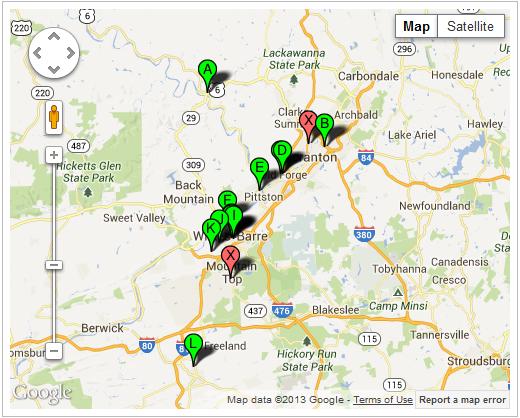 NEPA schools map
