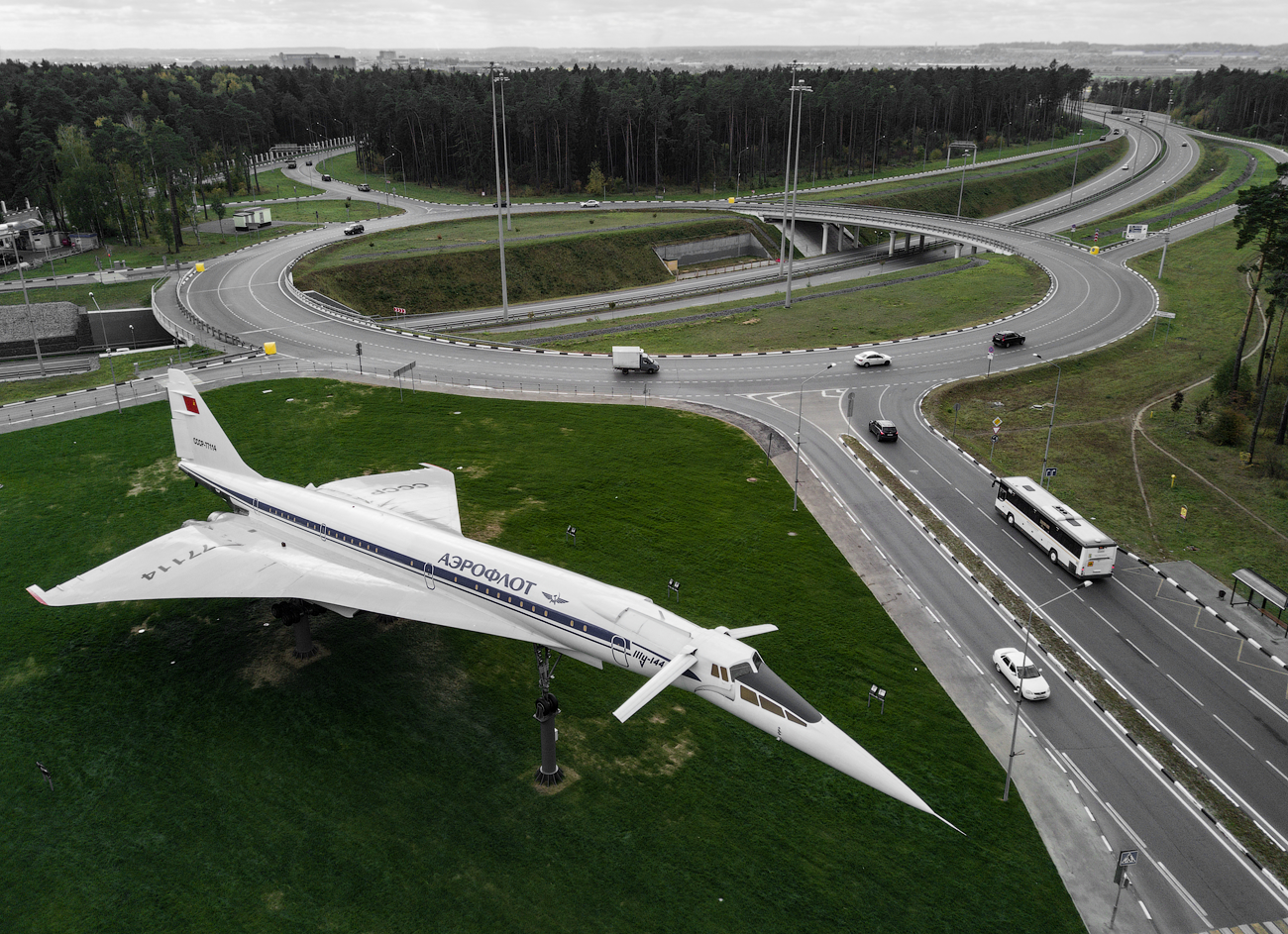 Самолёт-памятник Ту-144Д СССР-77114