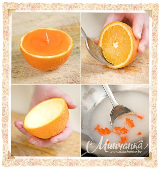 Свечи своими руками с апельсинами