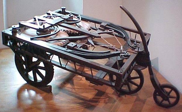1а.Механическая повозка Леонардо да Винчи