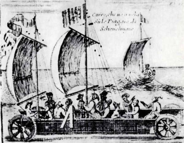 2.Сухопутная яхта Стевина