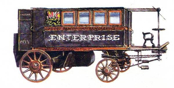 7в.Паровая карета Хэнкока (1830 год)