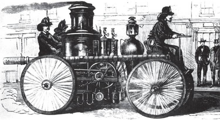 10.Пожарная паровая машина