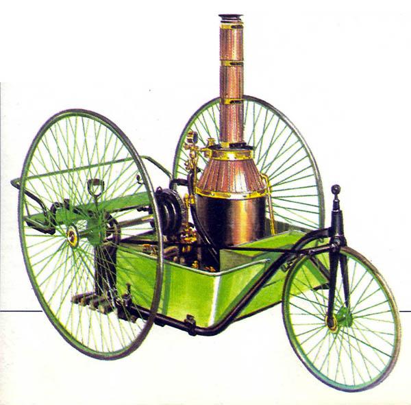 12а.Паровой трёхколёсник Пекори (1891 год)