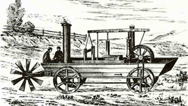 6в - 1.Паровая амфибия. 1805 год