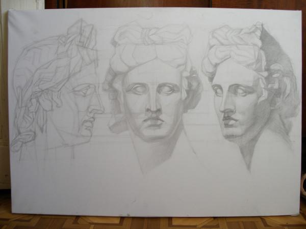 Академический рисунок - раздел: конструктивное рисование ... Стопы Рисунок