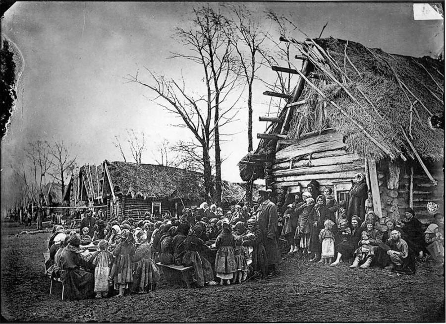 Фотографии голода 1891-1892. Деревня как она есть.
