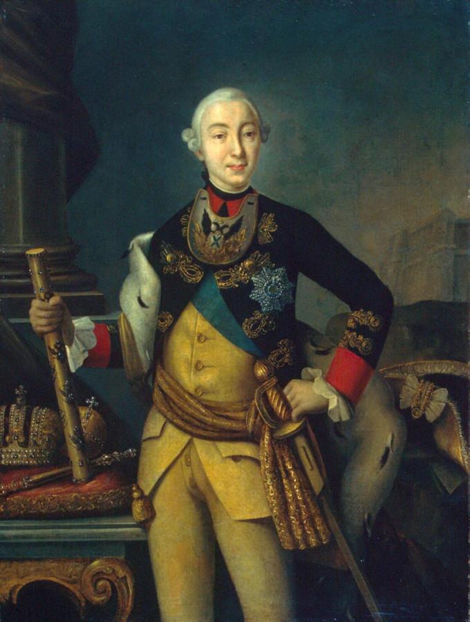 Как государь-император Петр III стрельбу из пушек по кормильцам прекратил.