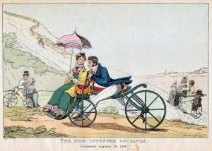 велосипедист с дамой 1820