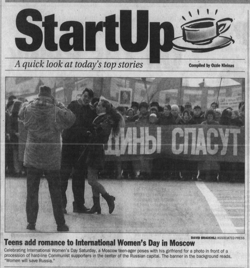 Dayton Daily News. 9 марта. стр. А2.