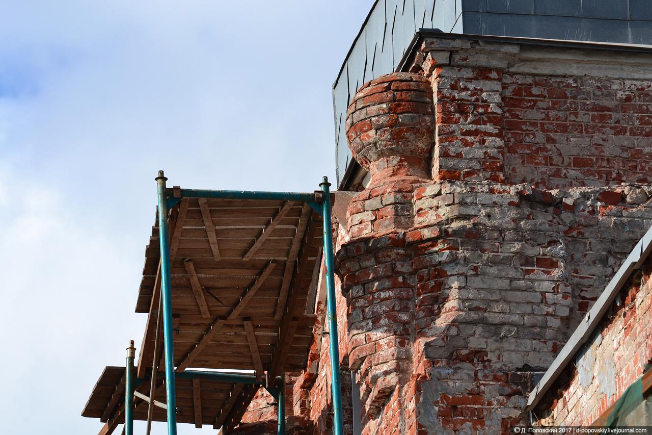 Фрагмент башенки на момент проведения ремонтных работ