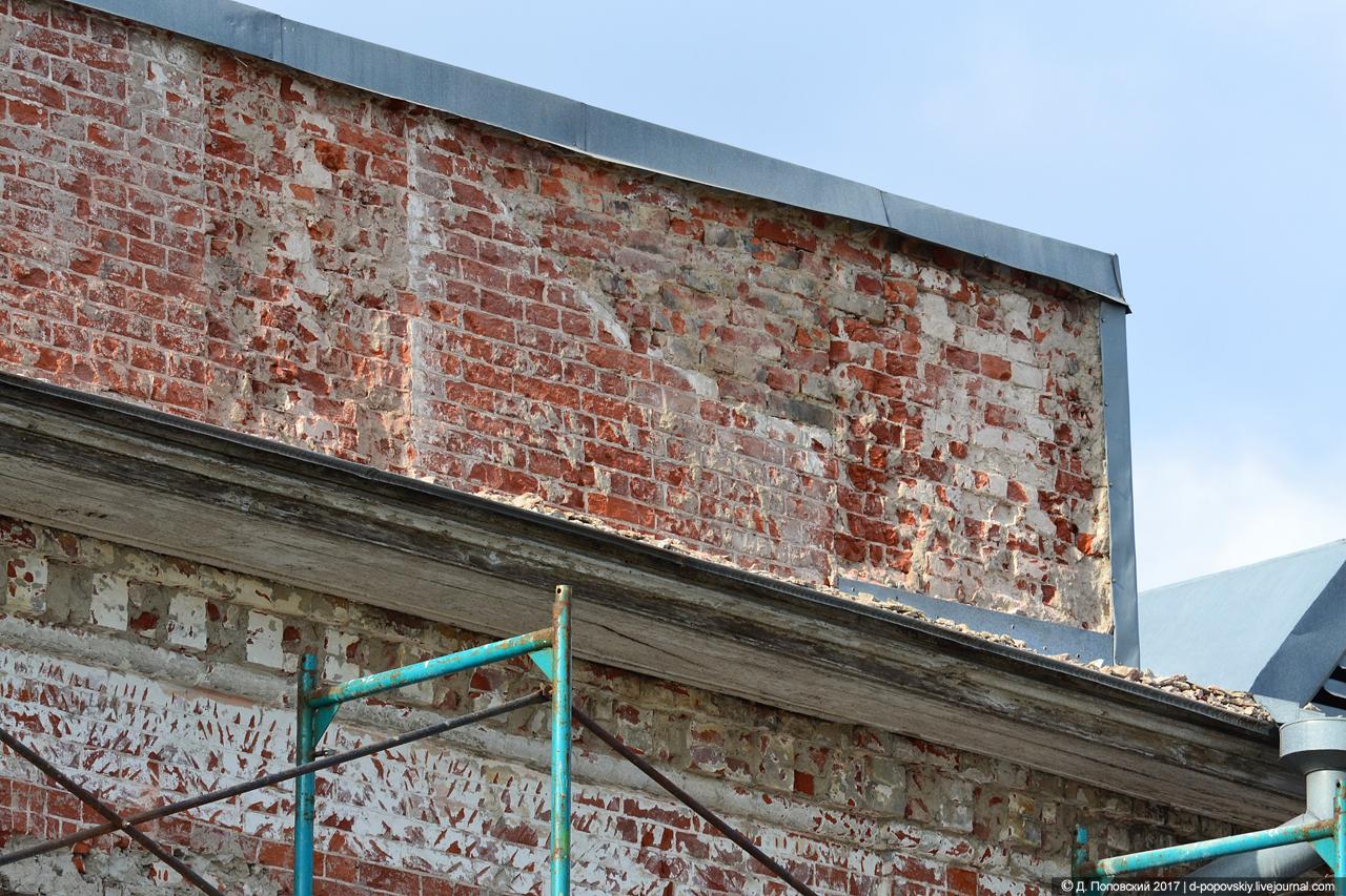 Фрагмент юго-восточного фасада на момент проведения ремонтных работ
