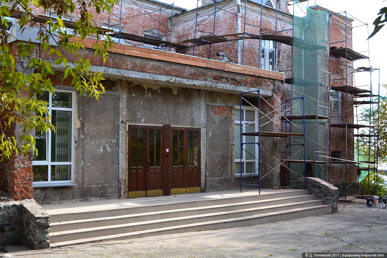 Северо-западный фасад на момент проведения ремонтных работ