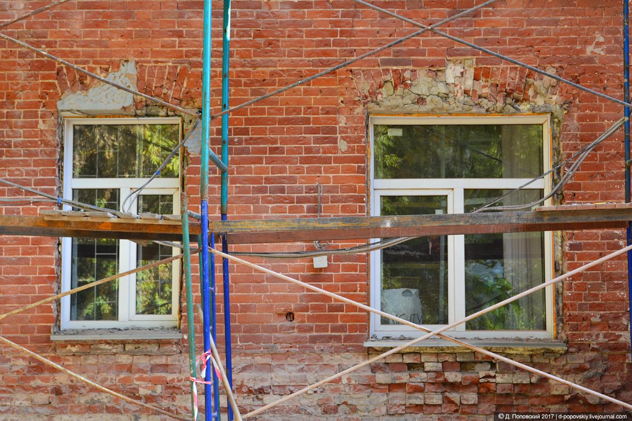 Фрагмент северо-западного фасада на момент проведения ремонтных работ