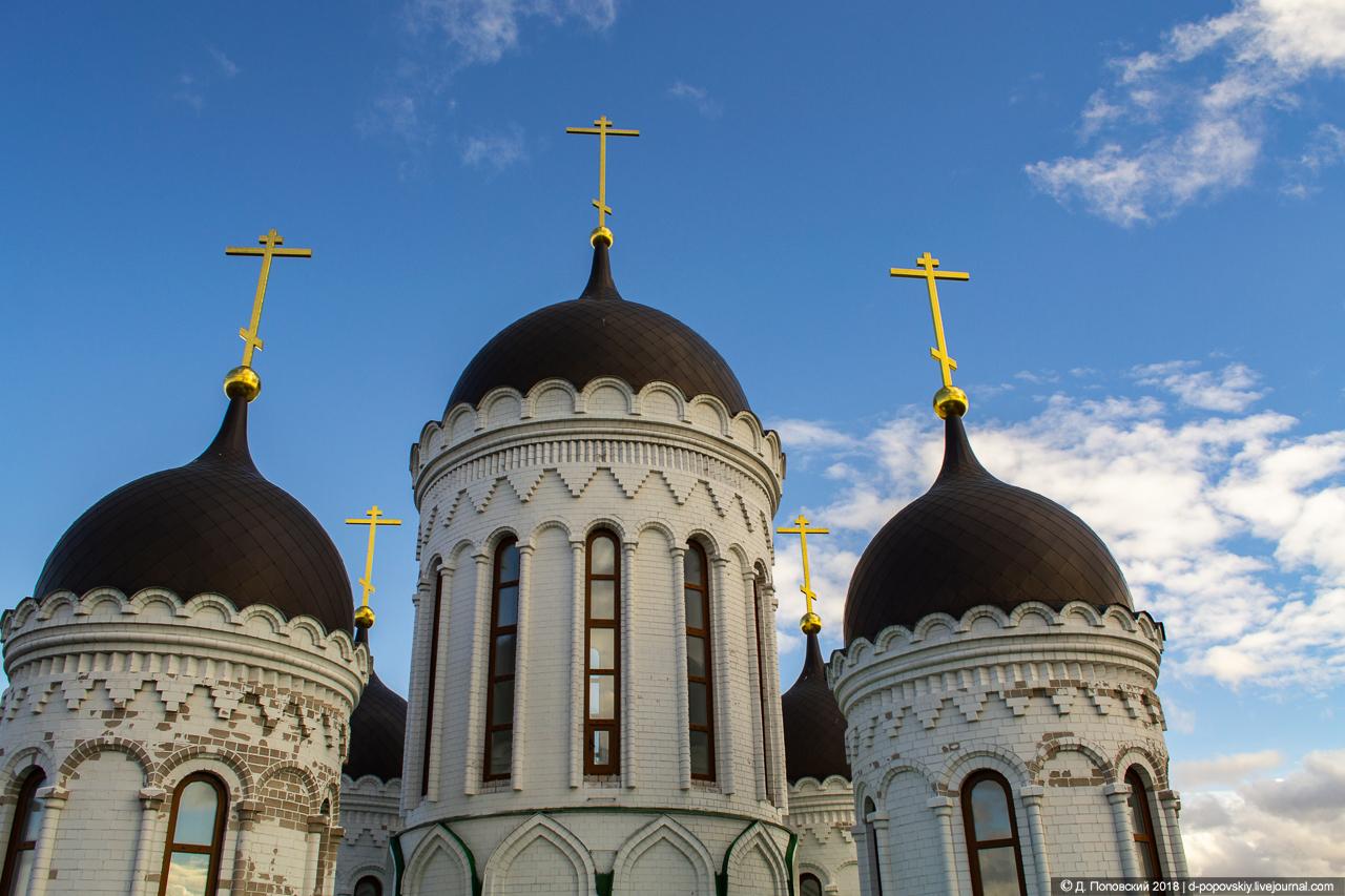 Вид с колокольни на основной объем храма