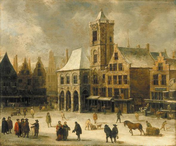 амстердам площадь дам ратуша