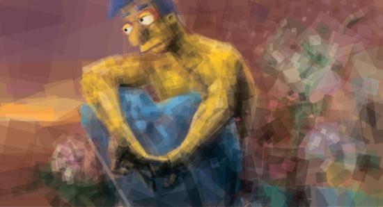 Пародия на картину Михаила Врубеля «Демон»