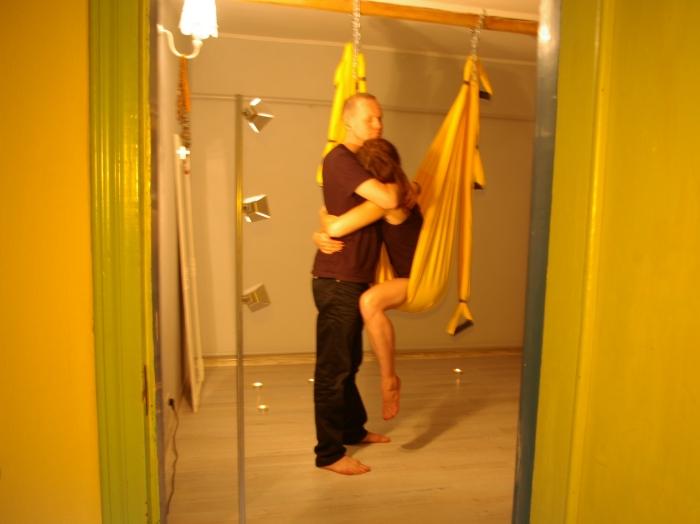 Гамак для йоги и секса