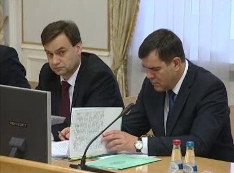 начальник ОАЦ полковник Шпегун и председатель КГБ генерал Вакульчик