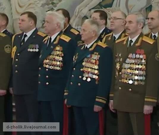 Генерал-полковник В.Шейман с наградами во всю грудь