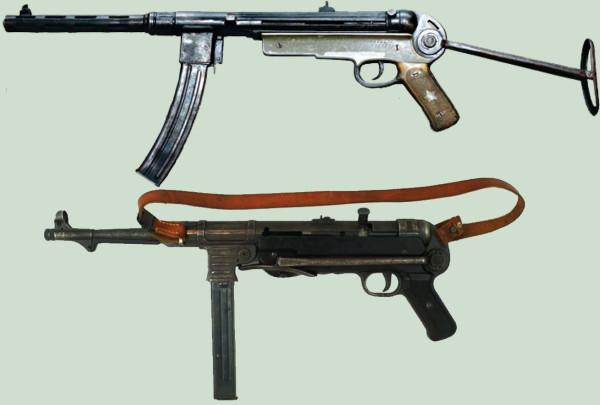 MP-38/40 и ППШ. Схема