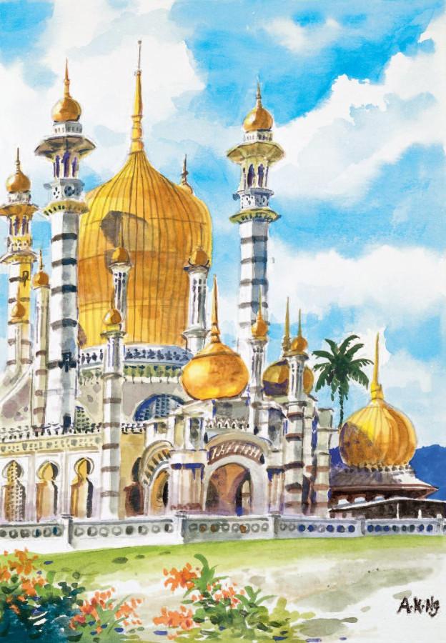 Ah Kwai Ng (Malaysia), «The Ubudiah Mosque in Kuala Kangsar»