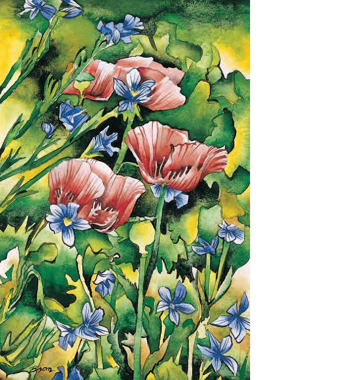 Brom Wikstrom (USA), «Poppies I»