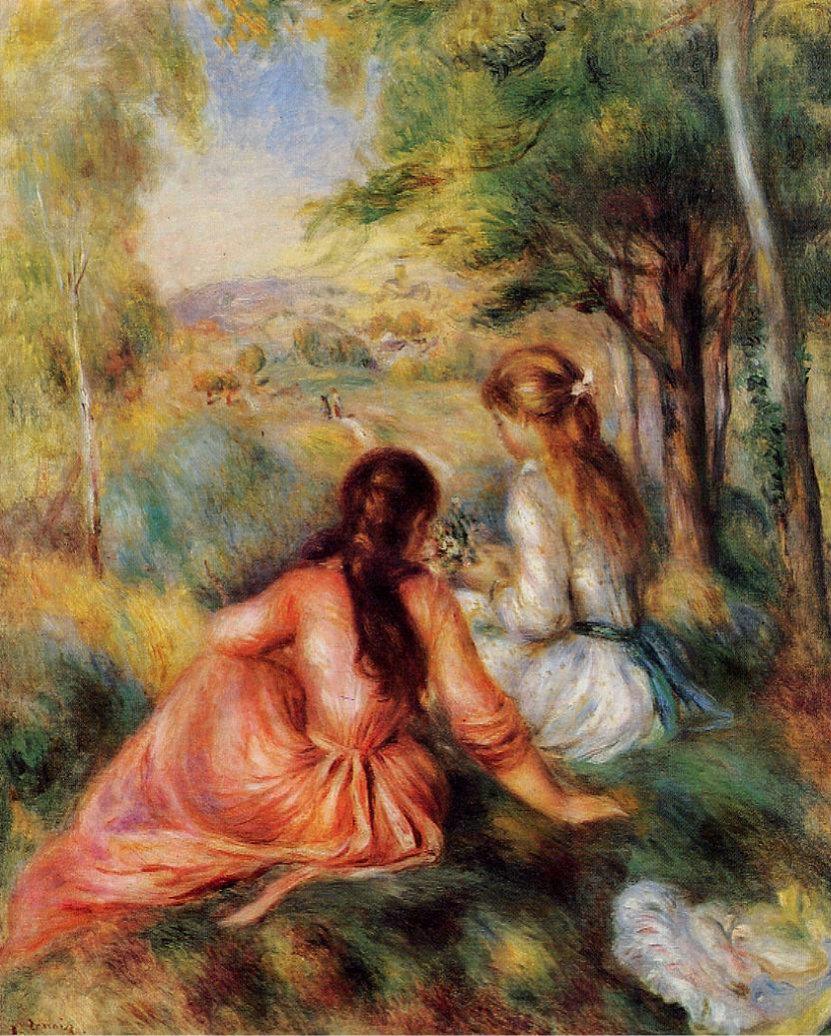 """Renoir, """"Dans le pré"""" (=In the meadow)"""