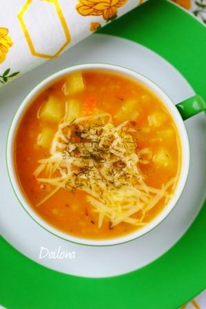 Pomidorinė Ryžių Sriuba Dailona