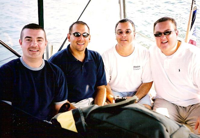 Steve, Joe, John, Will in P-Town in 2002