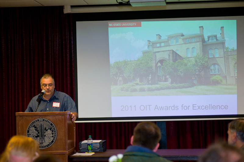 Emceeing the 2011 Office of Information Technology Awards for Excellence