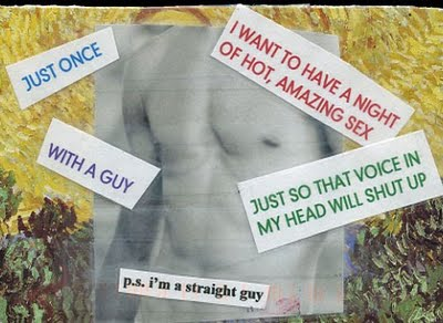 Just once. I want to have hot, amazing sex. With a guy. Just so that voice in my head will shut up. P.S. I'm a straight guy.