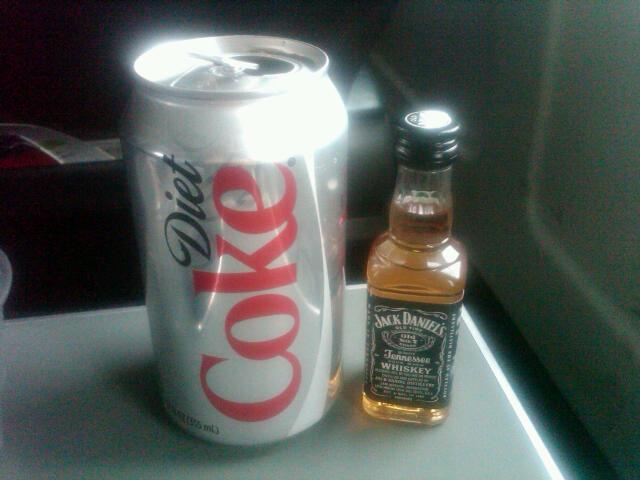 Diet Coke and a Jack Daniels pocket rocket