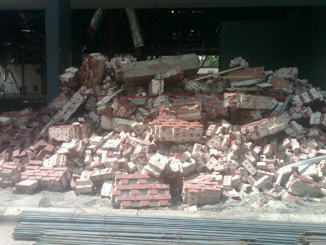 Rubble up close