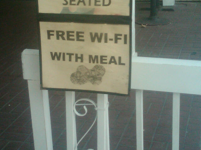 Free wi-fi with meal