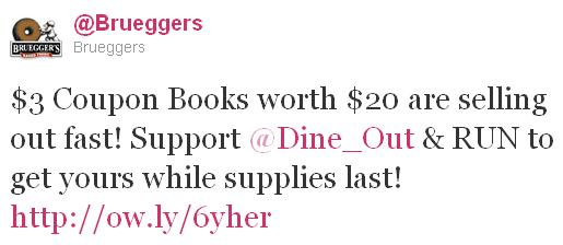 $3 Coupon Books worth $20 are selling out fast! Support @Dine_Out & RUN to get yours while suplies last!