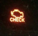 Check engine light in which the engine looks like a bladder